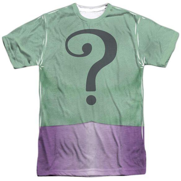 Batman Classic Tv Riddler Uniform Short Sleeve Adult Poly Crew T-Shirt