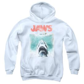Jaws Vintage Poster Youth Pull Over Hoodie