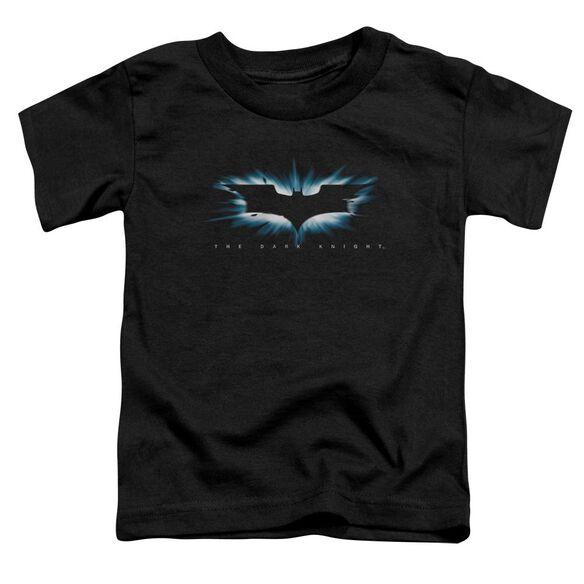 Dark Knight High Impact Burst Logo Short Sleeve Toddler Tee Black T-Shirt