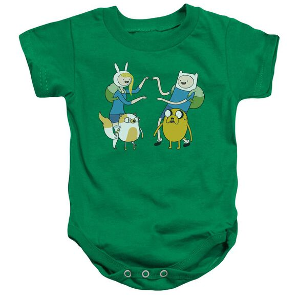 Adventure Time Meet Up Infant Snapsuit Kelly Green