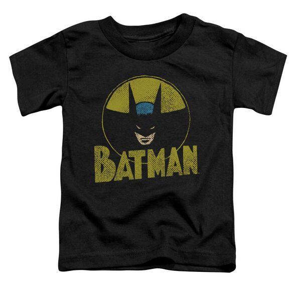 Dc Circle Bat Short Sleeve Toddler Tee Black T-Shirt