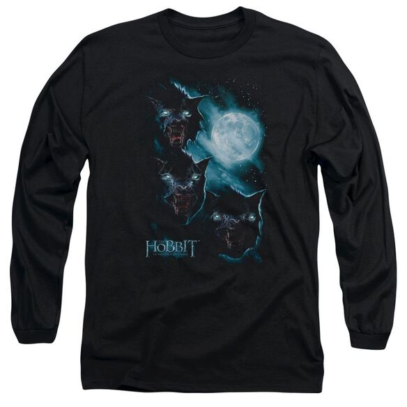 The Hobbit Three Warg Moon Long Sleeve Adult T-Shirt