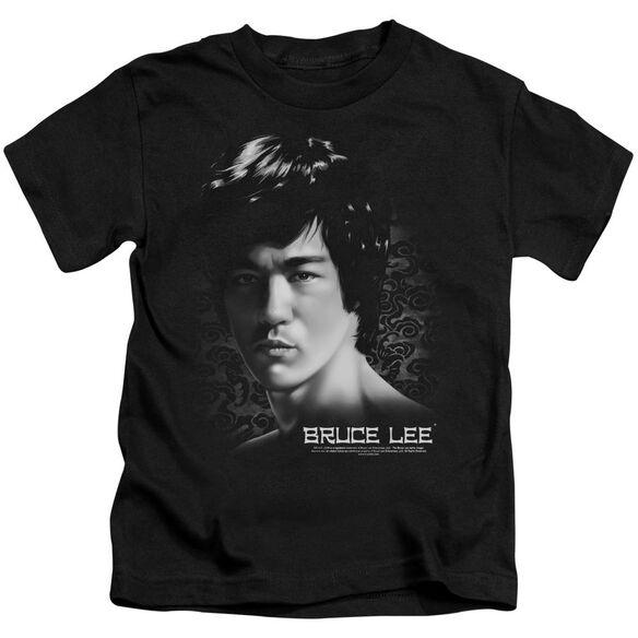 Bruce Lee In Your Face Short Sleeve Juvenile Black Md T-Shirt