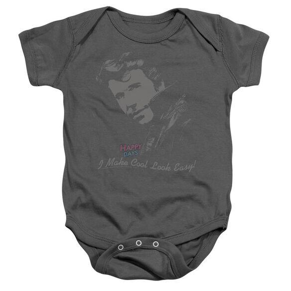 Happy Days Cool Fonz Infant Snapsuit Charcoal Sm
