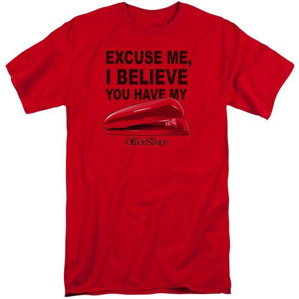 Office Space Stapler Short Sleeve Adult Tall T-Shirt