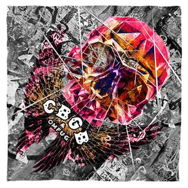 Cbgb Flying Skull Bandana