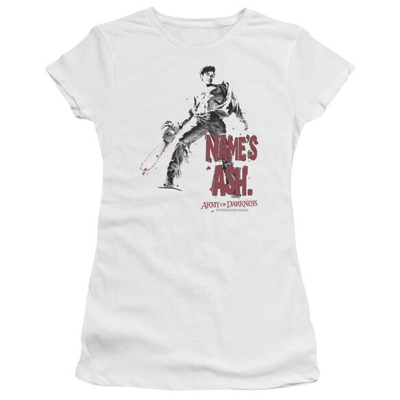 Army Of Darkness Names Ash Short Sleeve Junior Sheer T-Shirt