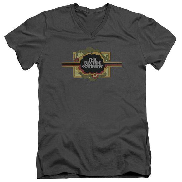 Electric Company Logo Short Sleeve Adult V Neck T-Shirt