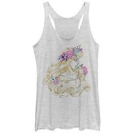 Sleeping Beauty Floral Tank Top Juniors T-Shirt