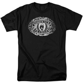 Hardluck Kings Oval Logo Short Sleeve Adult Black T-Shirt