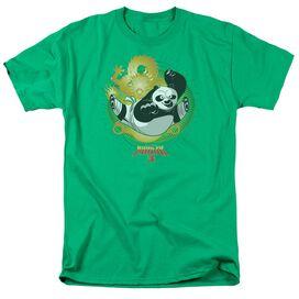 Kung Fu Panda Drago Po Short Sleeve Adult Kelly T-Shirt