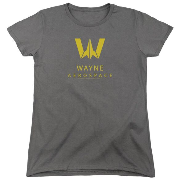 Justice League Movie Wayne Aerospace Short Sleeve Womens Tee T-Shirt