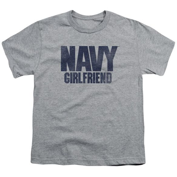 Navy Girlfriend Short Sleeve Youth Athletic T-Shirt