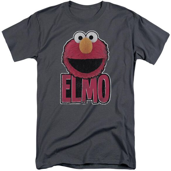 Sesame Street Elmo Smile Short Sleeve Adult Tall T-Shirt
