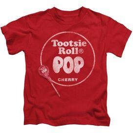 Tootsie Roll Tootsie Roll Pop Logo Short Sleeve Juvenile Red T-Shirt