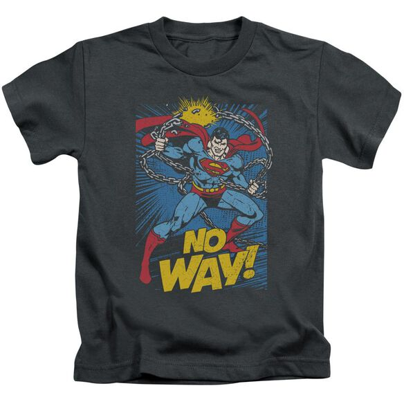 Dc No Way Short Sleeve Juvenile Charcoal T-Shirt