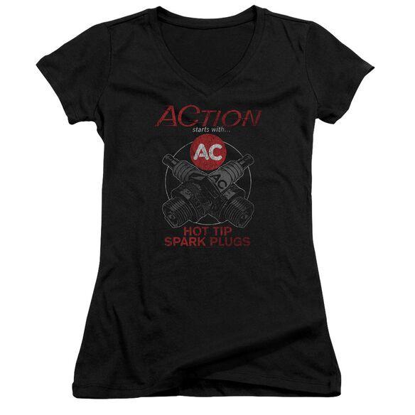 Ac Delco Cross Plugs Junior V Neck T-Shirt