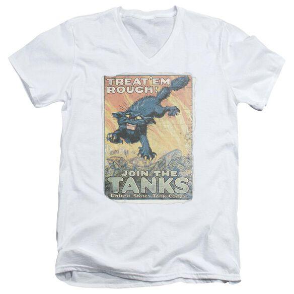 Army Treat Em Rough Short Sleeve Adult V Neck T-Shirt
