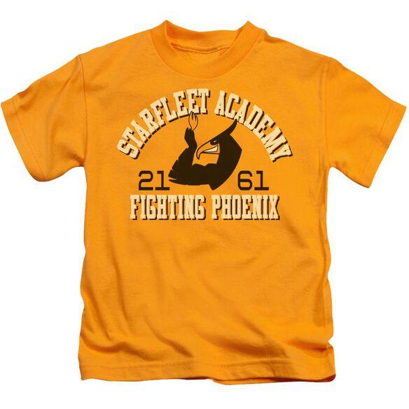 Star Trek Go Fleet Short Sleeve Juvenile Gold T-Shirt
