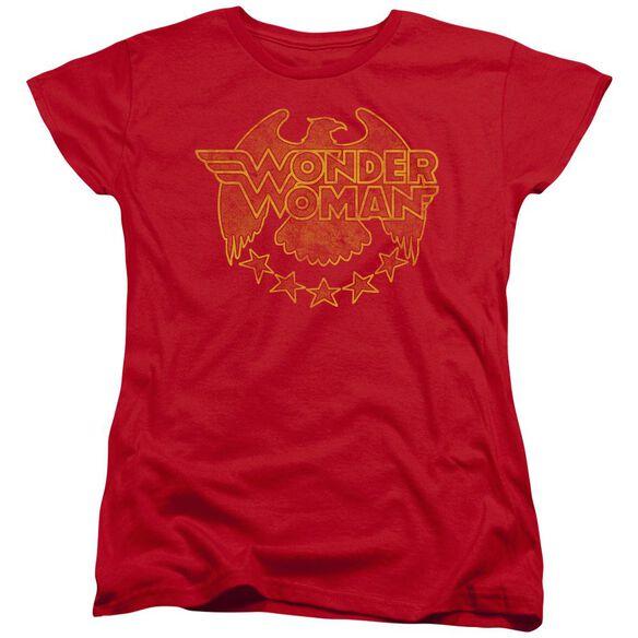 Dc Wonder Eagle Short Sleeve Womens Tee T-Shirt