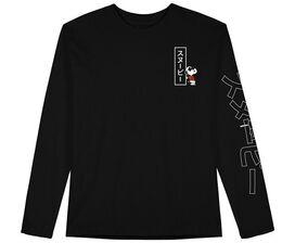 Snoopy Kool Kanji Long Sleeve T-Shirt