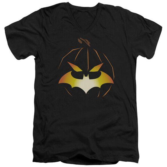 Batman Jack O'bat Short Sleeve Adult V Neck T-Shirt