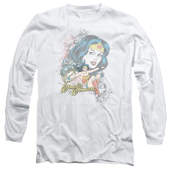 Dc Wonder Scroll Long Sleeve Adult T-Shirt