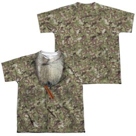 Duck Dynasty Camo Costume (Front Back Print) Short Sleeve Youth Poly Crew T-Shirt