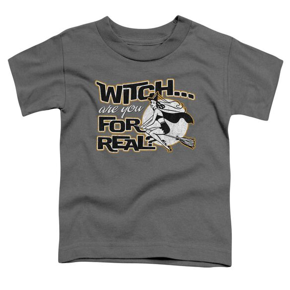 For Real Short Sleeve Toddler Tee Charcoal T-Shirt
