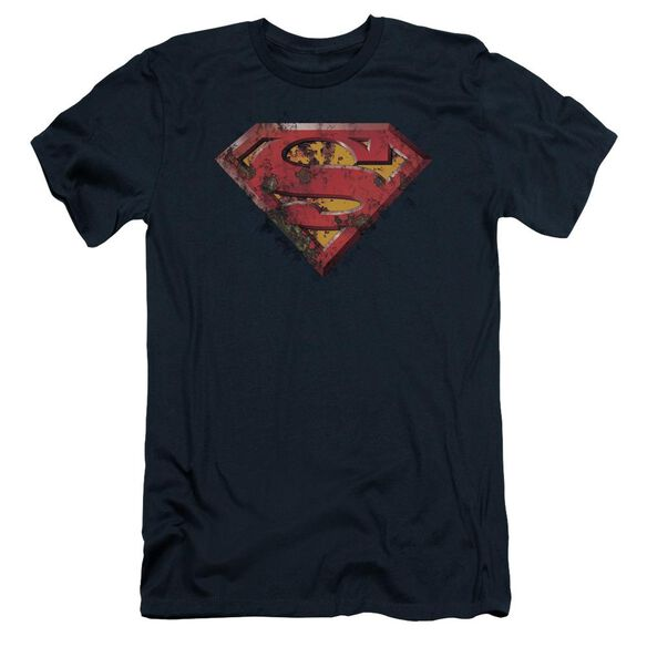 Superman Rusted Shield Short Sleeve Adult T-Shirt