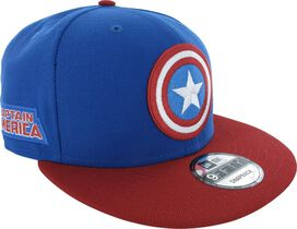 Captain America Logo and Name 9FIFTY Snapback Hat