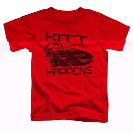 KNIGHT RIDER KITT HAPPENS - S/S TODDLER TEE - RED - T-Shirt