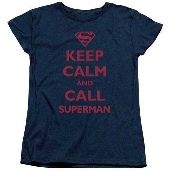 SUPERMAN CALL SUPERMAN - S/S WOMENS TEE - NAVY T-Shirt