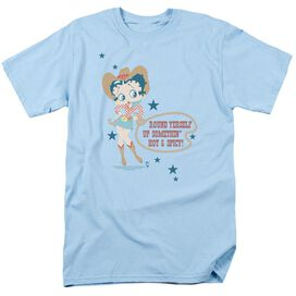BETTY BOOP HOT AND SPICY COWGIRL-S/S ADULT 18/1 - LIGHT BLUE T-Shirt