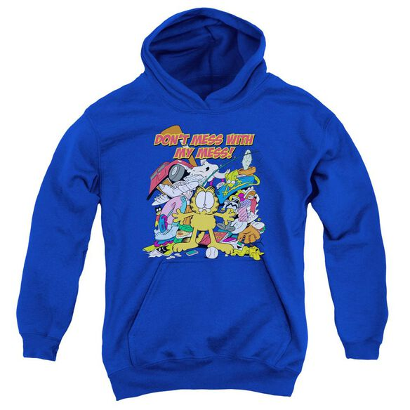 Garfield My Mess Youth Pull Over Hoodie
