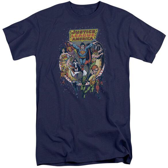Jla Star Group Short Sleeve Adult Tall T-Shirt