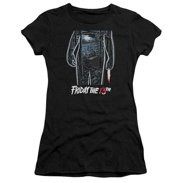 Friday The 13 Th 13 Th Poster Hbo Short Sleeve Junior Sheer T-Shirt