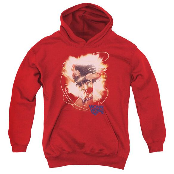 Wonder Woman 75 Th Burst Youth Pull Over Hoodie