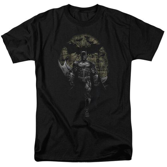 Dark Knight Rises Distressed Dark Knight Short Sleeve Adult Black T-Shirt