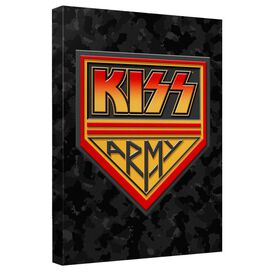 Kiss Army Canvas Wall Art With Back Board