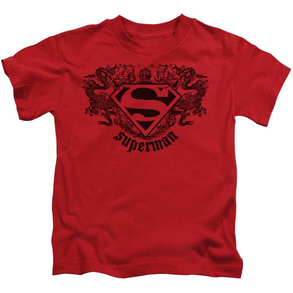 Superman Superman Dragon Short Sleeve Juvenile Red T-Shirt