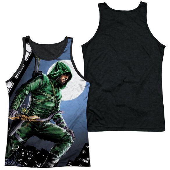 Arrow Night Watch Adult Poly Tank Top Black Back