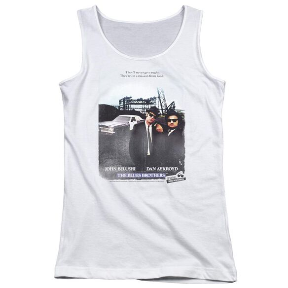 Blues Brothers Distressed Poster Juniors Tank Top