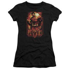 Superman Metropolis Deco Short Sleeve Junior Sheer T-Shirt