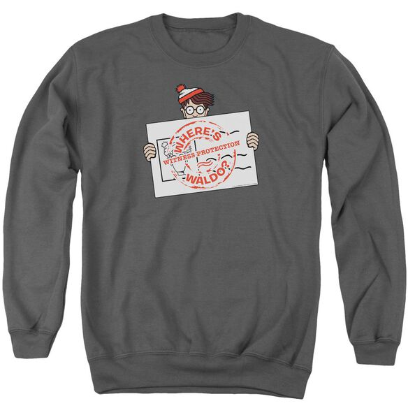 Wheres Waldo Witness Protection Adult Crewneck Sweatshirt