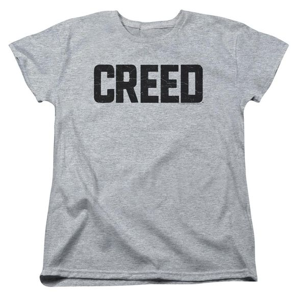 Creed Cracked Logo Short Sleeve Womens Tee Athletic T-Shirt