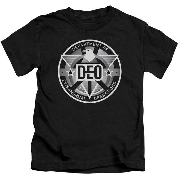 Supergirl Deo Short Sleeve Juvenile Black T-Shirt