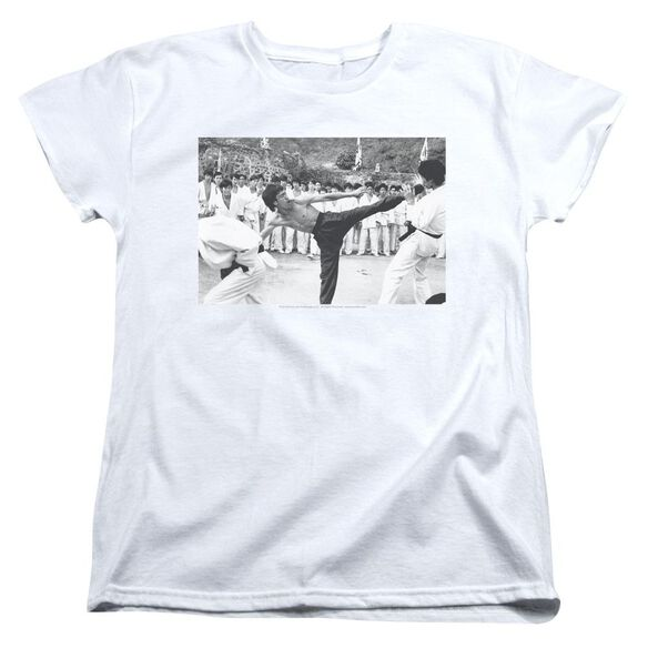 Bruce Lee Kick To The Head Short Sleeve Womens Tee T-Shirt