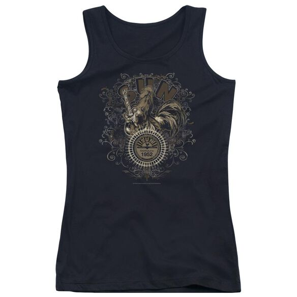 Sun Scroll Around Rooster Juniors Tank Top