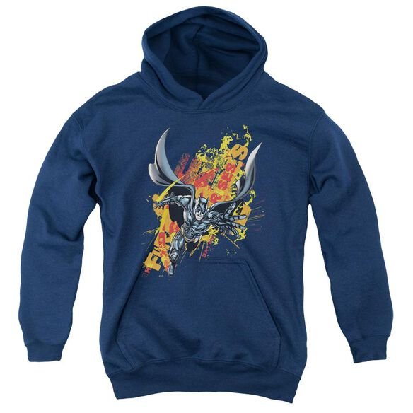 Dark Knight Rises Fire Rises Youth Pull Over Hoodie